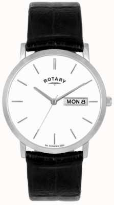 Reloj Rotary Caballero Correa de Piel Negra GSI02622/06/DD