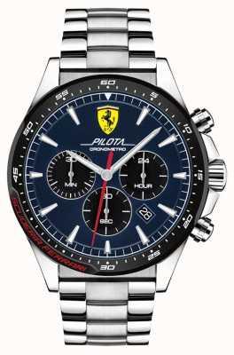 Scuderia Ferrari | pilota masculina | pulsera de acero inoxidable | esfera azul | 0830598