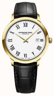 Raymond Weil El | toccata para hombre | clásico pvd caja de oro esfera blanca | 5485-PC-00300