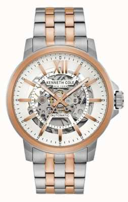 Kenneth Cole | mens automatic | acero inoxidable de dos tonos | esfera plateada | KC50779006