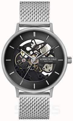 Kenneth Cole | mens automatic | pulsera de malla de acero | esfera negra | KC50780005