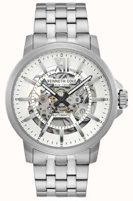 Kenneth Cole | mens automatic | pulsera de acero inoxidable | esfera plateada | KC50779005