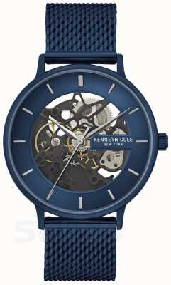 Kenneth Cole | mens automatic | correa de malla azul | esfera azul | KC50780003