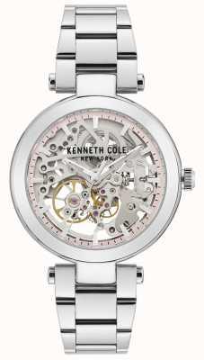 Kenneth Cole | mujer automatica | pulsera de acero inoxidable | esfera plateada KC50799001