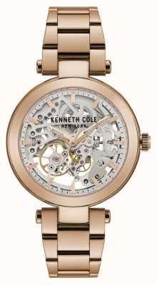 Kenneth Cole | mujer automatica | pulsera de oro rosa | esfera de oro rosa | KC50799002