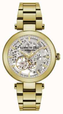 Kenneth Cole | mujer automatica | pulsera amarillo / oro | esfera plateada | KC50799003