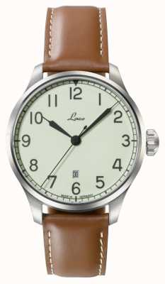 Laco | valencia 42 | reloj navy automático | piel de becerro color canela | 861651.2