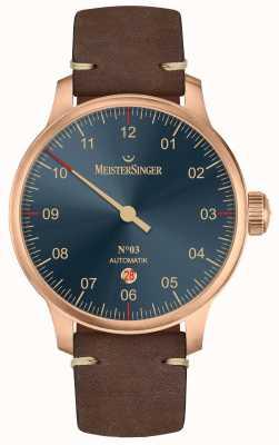 MeisterSinger Línea de bronce nº 03 piel de becerro marrón oscuro. AM917BR