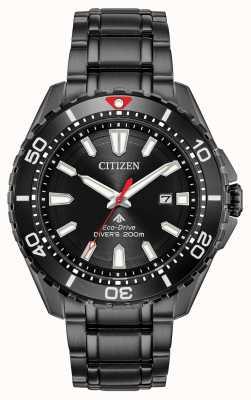Citizen Hombres promaster diver eco-drive negro pvd plateado BN0195-54E