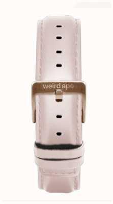 Weird Ape Correa de cuero rosa 16mm hebilla oro rosa ST01-000112