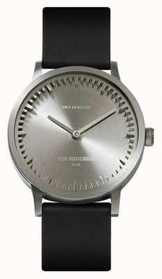 Leff Amsterdam El | reloj tubo | t32 | acero | correa de cuero negro | LT74111