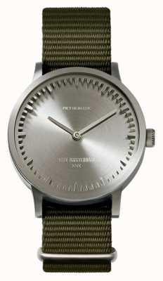 Leff Amsterdam | reloj tubo | t32 | acero | correa verde de la OTAN | LT74131