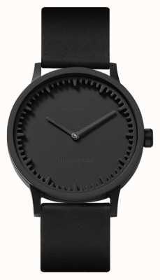 Leff Amsterdam | reloj tubo | t32 | negro | correa de cuero negro | LT74212
