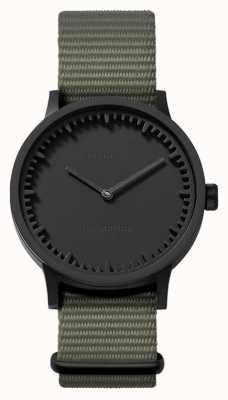 Leff Amsterdam | reloj tubo | t32 | negro | correa de la OTAN gris | LT74252
