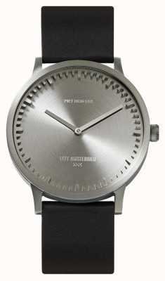 Leff Amsterdam El | reloj tubo | t40 | acero | correa de cuero negro | LT75111