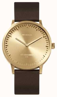 Leff Amsterdam | reloj tubo | t40 | latón correa de cuero marron | LT75323
