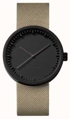 Leff Amsterdam El | reloj tubo | d38 | negro | correa de arena coedura | LT71013