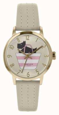 Radley | correa de cuero gris para mujer | perro estampado en dial dial | RY2790