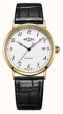 Rotary Buckingham para hombre 9ct. reloj de oro GS11476/18