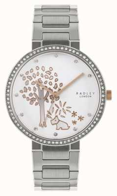 Radley El | pulsera de acero inoxidable para mujer | esfera con motivos de árboles | RY4387