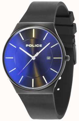 Police Correa de silicona para hombre nuevo horizonte horizonte negro 15045JBCB/02PA