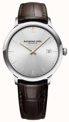 Raymond Weil | tocata para hombre | correa de cuero marron | esfera plateada | 5485-SL5-65001