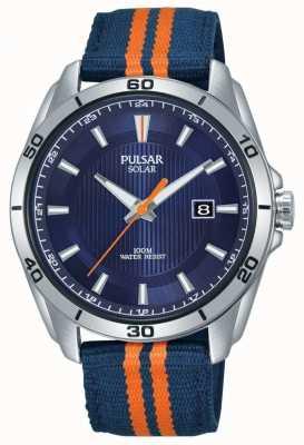 Pulsar El | esfera azul para hombre | correa de tela azul / naranja | PX3175X1