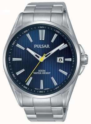 Pulsar | pulsera de acero inoxidable para hombre | esfera azul | PS9603X1