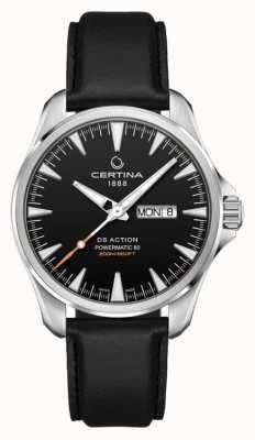 Certina | ds action day-date powermatic 80 | correa de cuero negro | C0324301605100