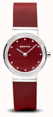 Bering Mujeres | clásico | pulsera de malla de acero pvd rojo 10126-303