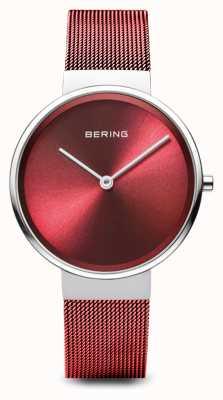 Bering Mujeres | clásico | pulsera de malla de acero chapada en pvd rojo 14531-303
