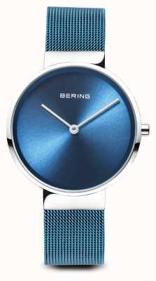 Bering Mujeres | clásico | pulsera de malla de acero chapado en pvd azul 14531-308
