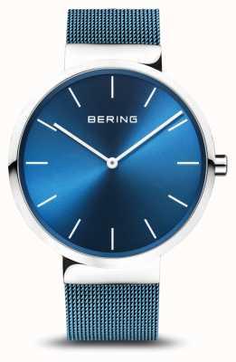 Bering Hombres | clásico | pulsera de malla de acero chapado en pvd azul 16540-308