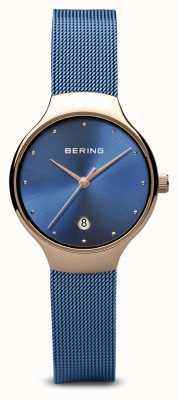 Bering Mujeres | clásico | pulsera de malla azul plateada en pvd azul 13326-368