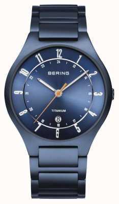 Bering Hombres | titanio | esfera azul | pulsera azul 11739-797