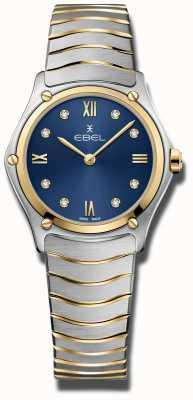 EBEL Clásico deportivo de mujer | esfera azul | pulsera de acero inoxidable 1216446A