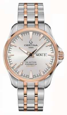 Certina | ds action day-date powermatic 80 | acero inoxidable | C0324302203100