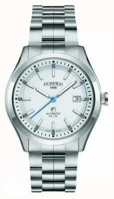 Roamer El | rd100 automático | pulsera de acero inoxidable | esfera blanca | 951660-41-25-90