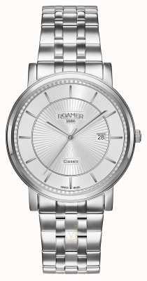 Roamer El | línea clásica | pulsera de acero inoxidable | esfera plateada | 709856-41-17-70