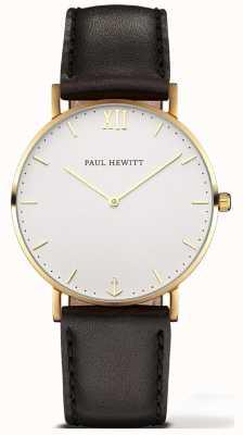 Paul Hewitt | reloj línea unisex sailor | correa de cuero negro | 6450854