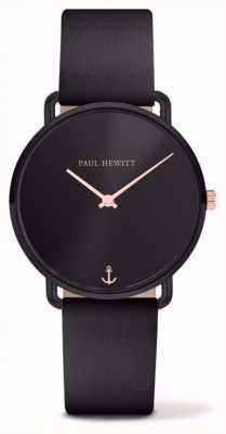 Paul Hewitt | señoras señorita océano | correa de cuero negro | PH-M-B-BS-32S