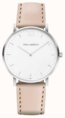 Paul Hewitt El | línea marinera para hombre | correa de cuero beige | PH-SA-R-5M-W-22S