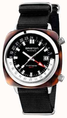 Briston Clubmaster gmt correa de nato negra auto edición limitada 19842.SA.T.1.NB