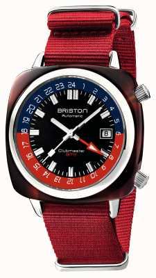Briston Clubmaster gmt edición limitada | automático | correa roja de la OTAN 19842.SA.T.P.NR