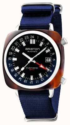 Briston Clubmaster gmt edición limitada | automático | correa azul de la OTAN 19842.SA.T.9.NNB