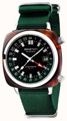 Briston Clubmaster gmt edición limitada | auto | correa verde de la OTAN 19842.SA.T.10.NBG