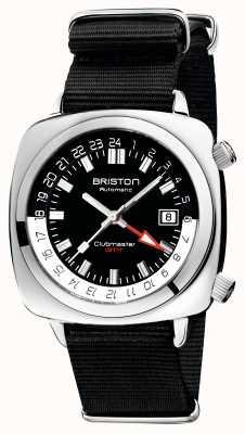 Briston Clubmaster gmt edición limitada | auto | correa negra de la OTAN 19842.PS.G.1.NB