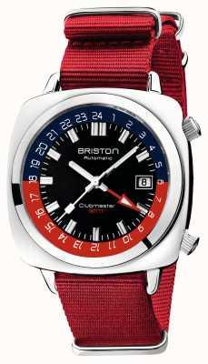 Briston Clubmaster gmt edición limitada | auto | correa roja de la OTAN 19842.PS.G.P.NR
