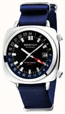 Briston Clubmaster gmt edición limitada | auto | correa azul de la OTAN 19842.PS.G.9.NNB