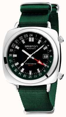 Briston Clubmaster gmt edición limitada | auto | correa verde de la OTAN 19842.PS.G.10.NBG